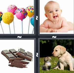 Cake pops, Lindo beb, Barra de chocolate, Perrito y gatito, Level 18